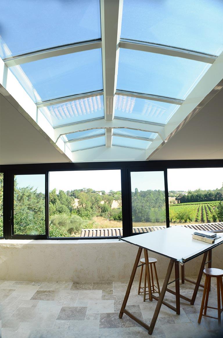 Veranda Puit De Lumiere puits de lumière aux dimensions xxl pour véranda à toiture plate