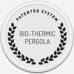 BIO-THERMIC pergola patent
