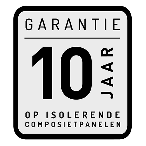 10 jaar - Garantie op isolerende composietpanelen
