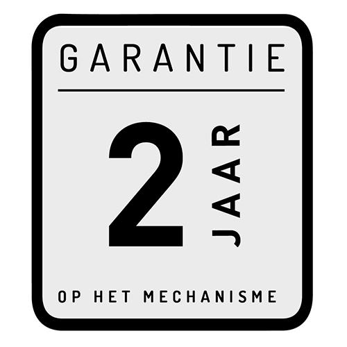 2 jaar - Garantie op het mechanisme