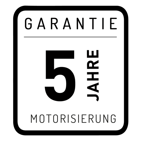 5 Jahre - Garantie der Motoren