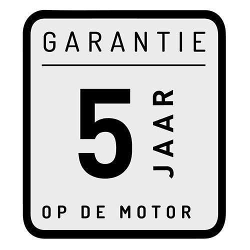 5 jaar - Garantie op de motor